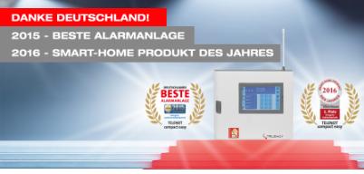 Bester Alarmanlage Smart-Home Produkt des Jahres 2016